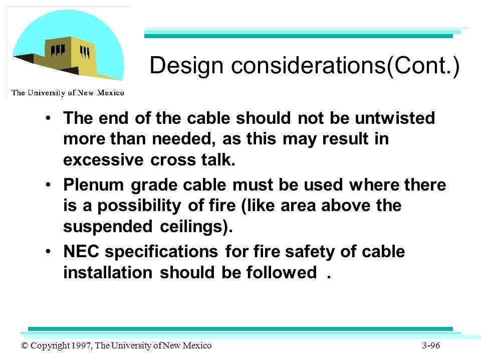 Design considerations(Cont.)