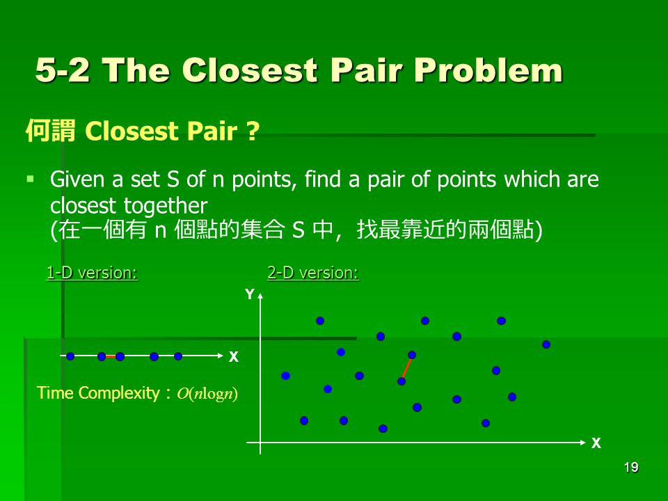 5-2 The Closest Pair Problem