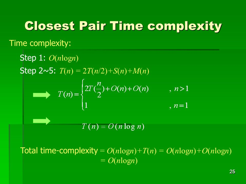 Closest Pair Time complexity