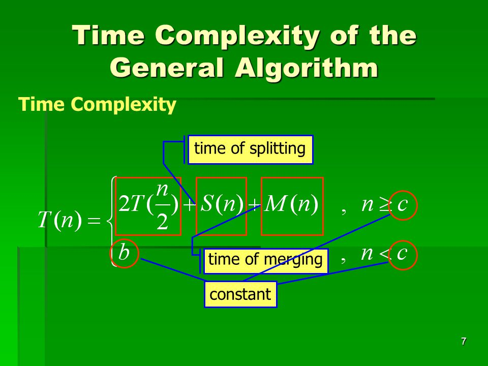 Time Complexity of the General Algorithm