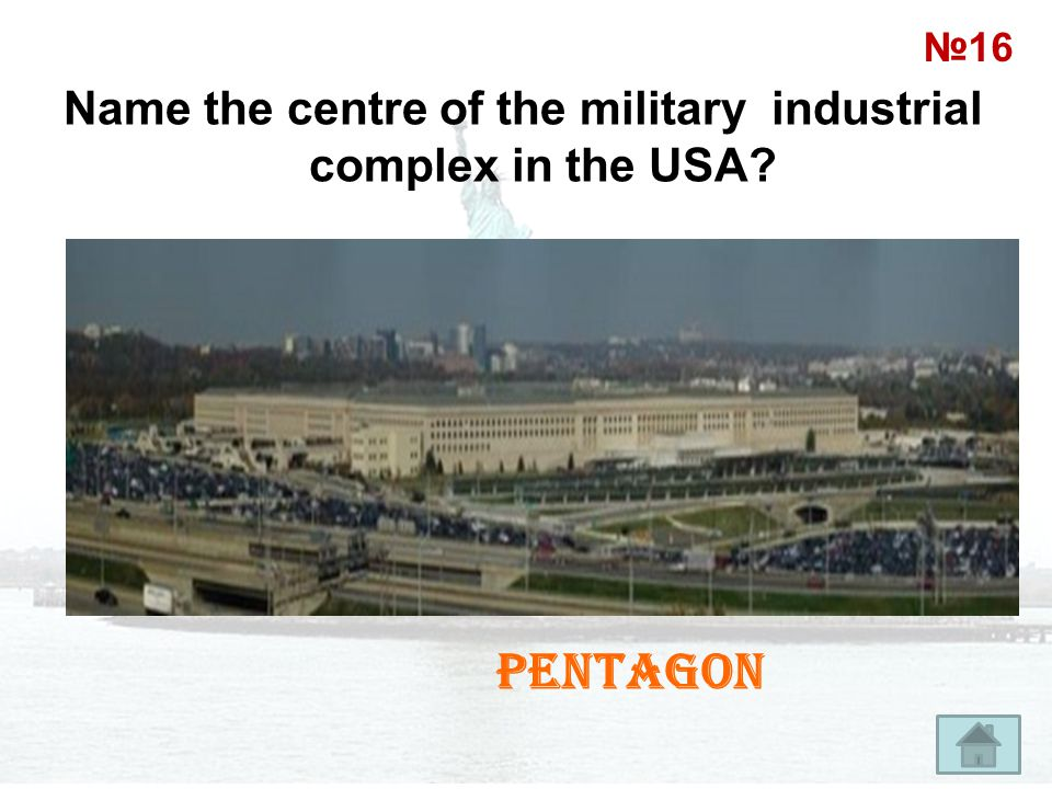 Name the centre of the military industrial complex in the USA