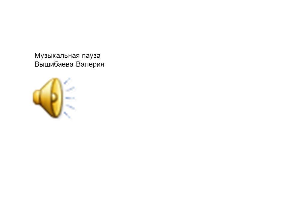 Музыкальная пауза Вышибаева Валерия
