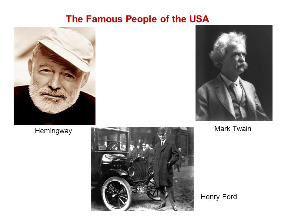 The Famous People of the USA