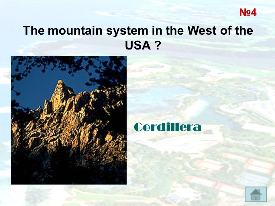 The mountain system in the West of the USA
