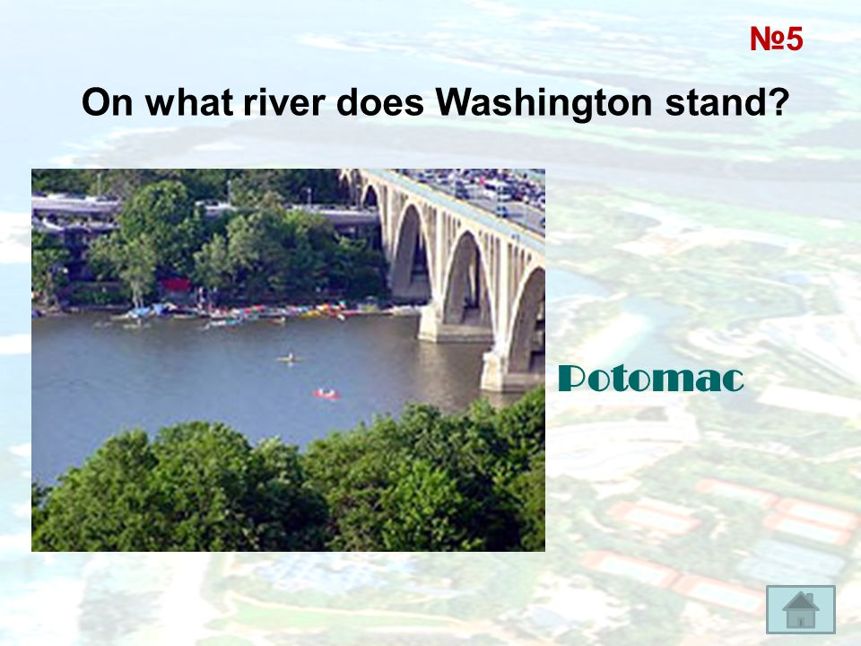 On what river does Washington stand