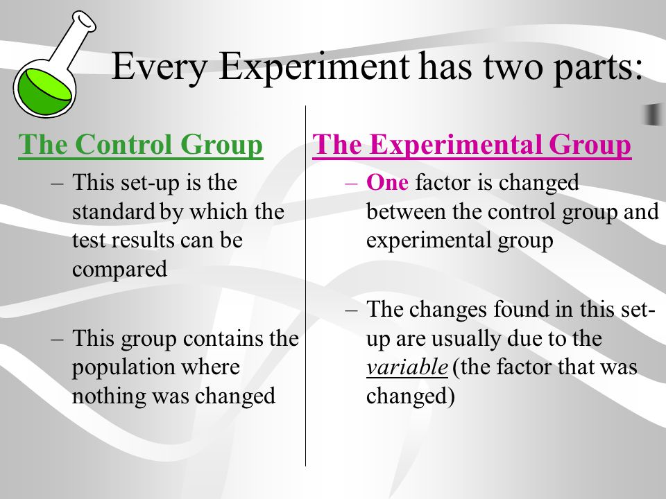 Every Experiment has two parts: