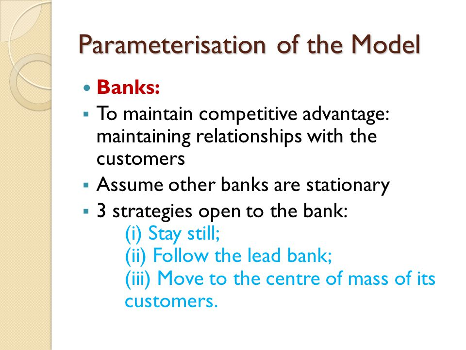 Parameterisation of the Model