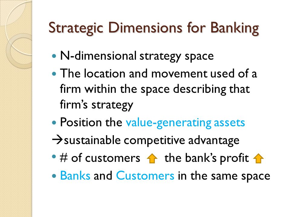 Strategic Dimensions for Banking