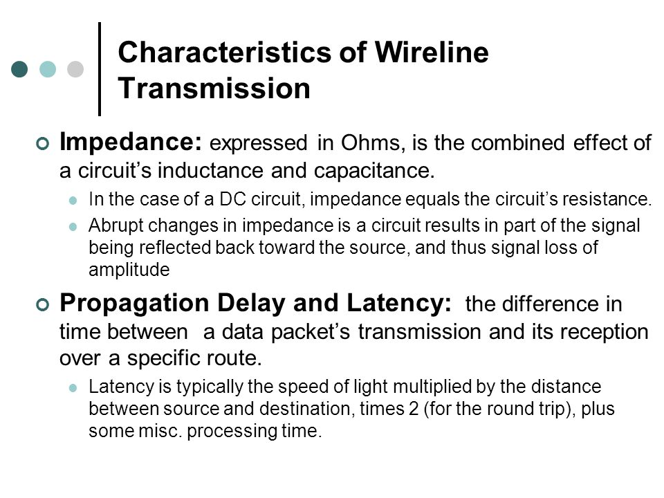 Characteristics of Wireline Transmission