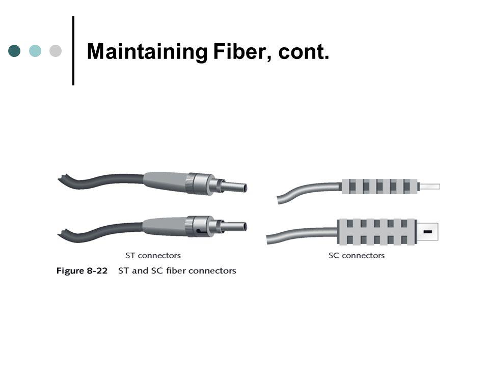 Maintaining Fiber, cont.
