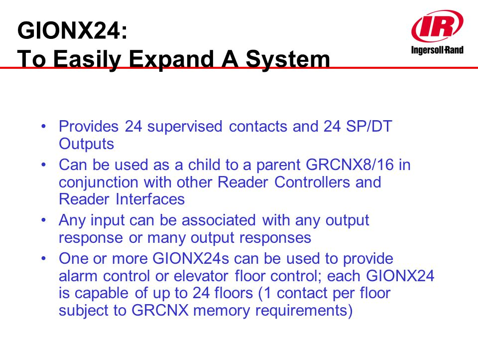 GIONX24: To Easily Expand A System