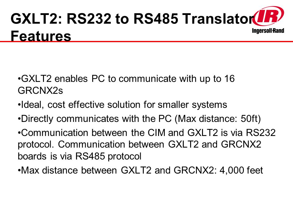 GXLT2: RS232 to RS485 Translator Features