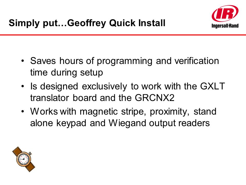 Simply put…Geoffrey Quick Install