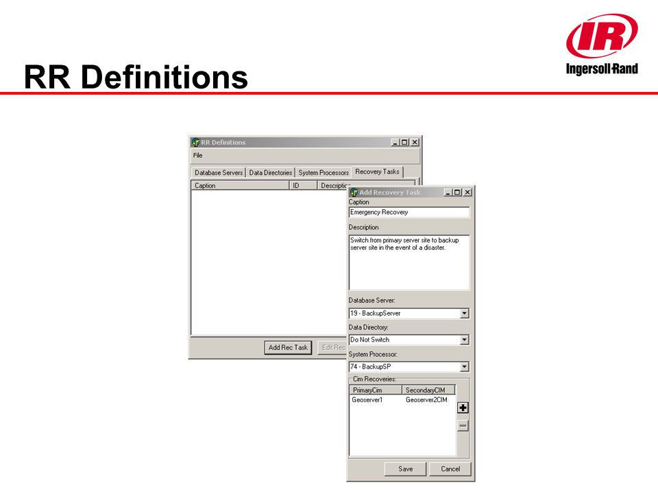 RR Definitions