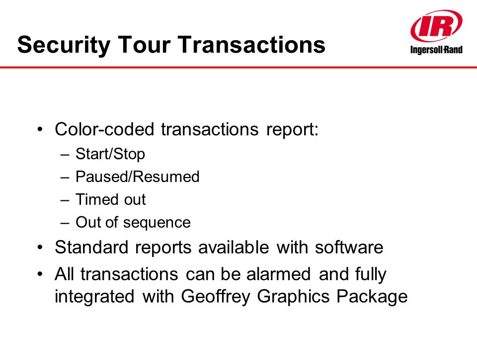 Security Tour Transactions