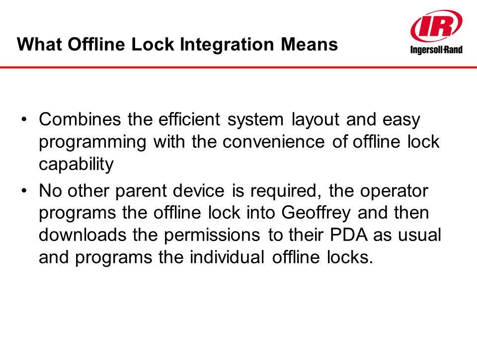What Offline Lock Integration Means