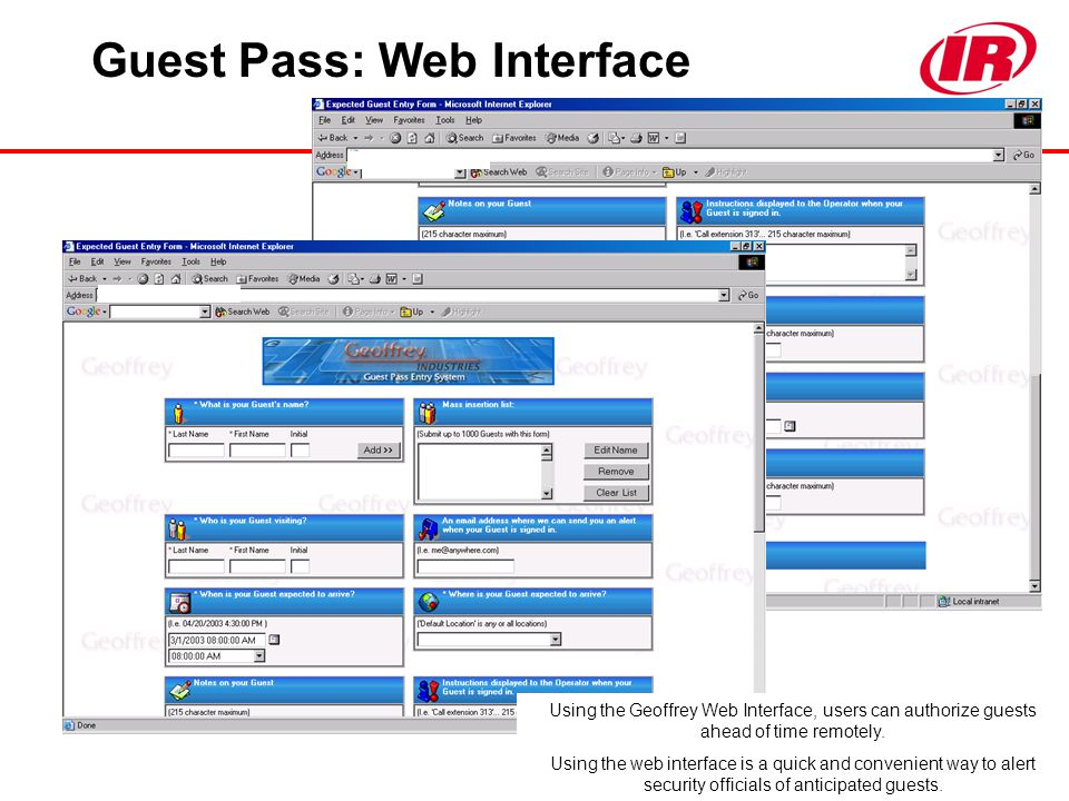 Guest Pass: Web Interface