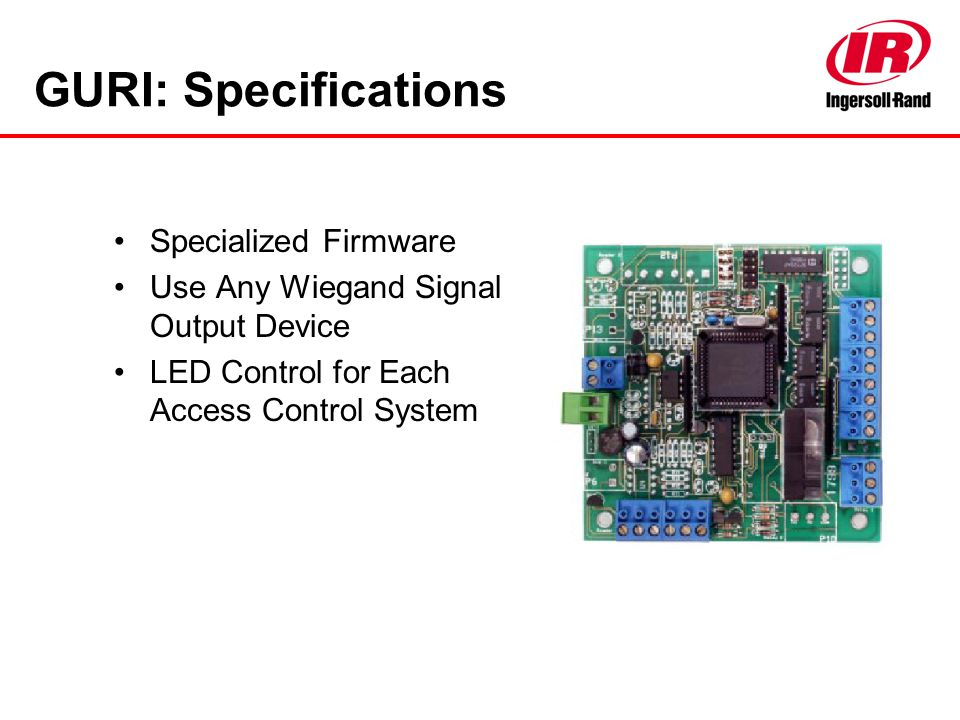 GURI: Specifications Specialized Firmware