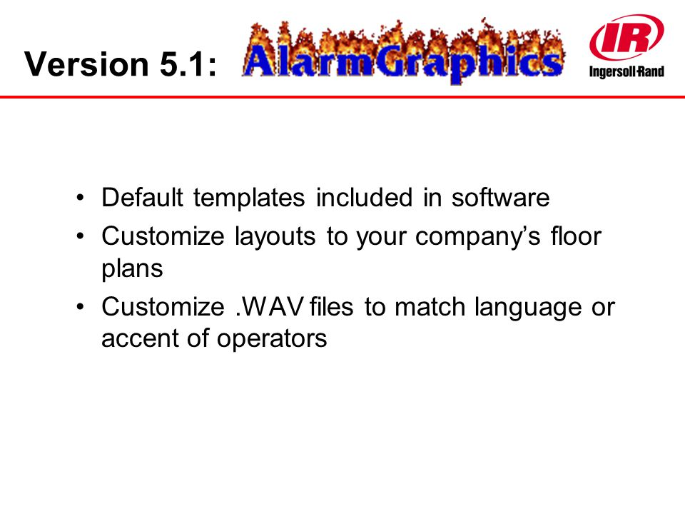 Version 5.1: Default templates included in software