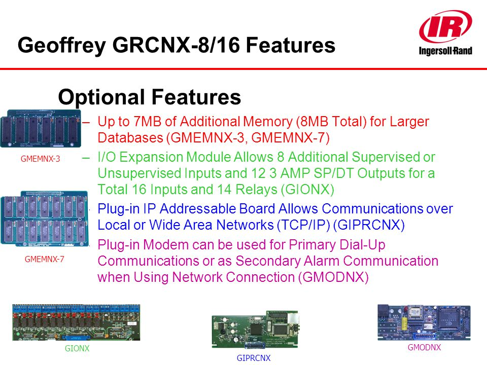 Geoffrey GRCNX-8/16 Features