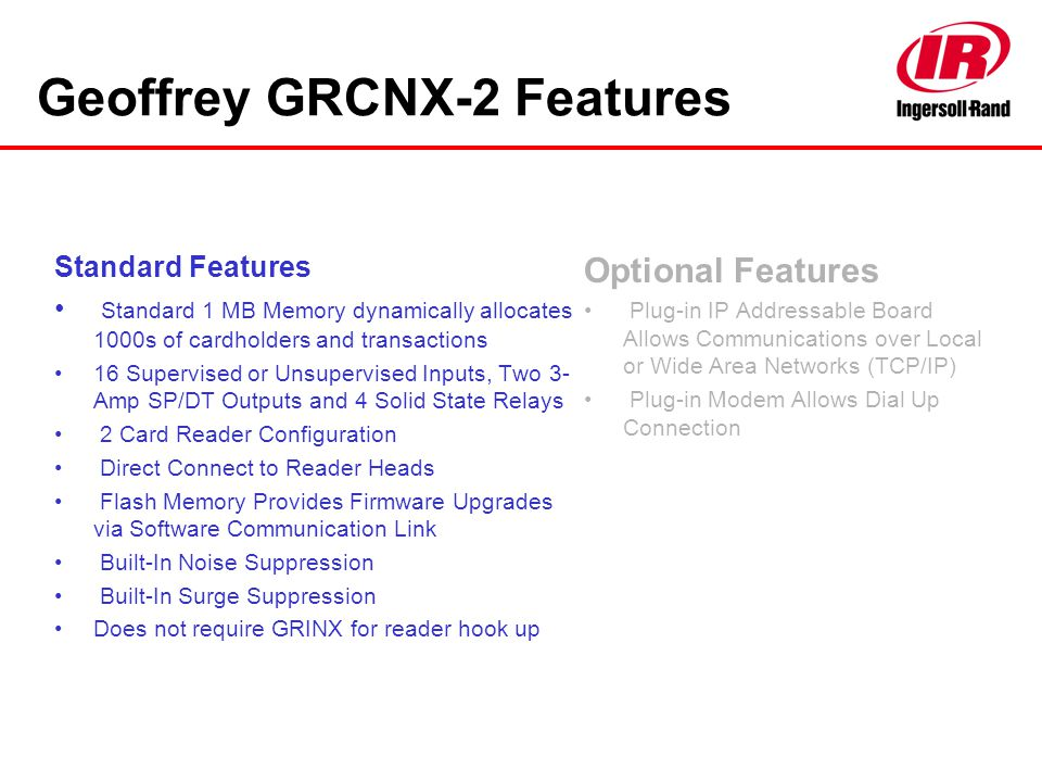 Geoffrey GRCNX-2 Features