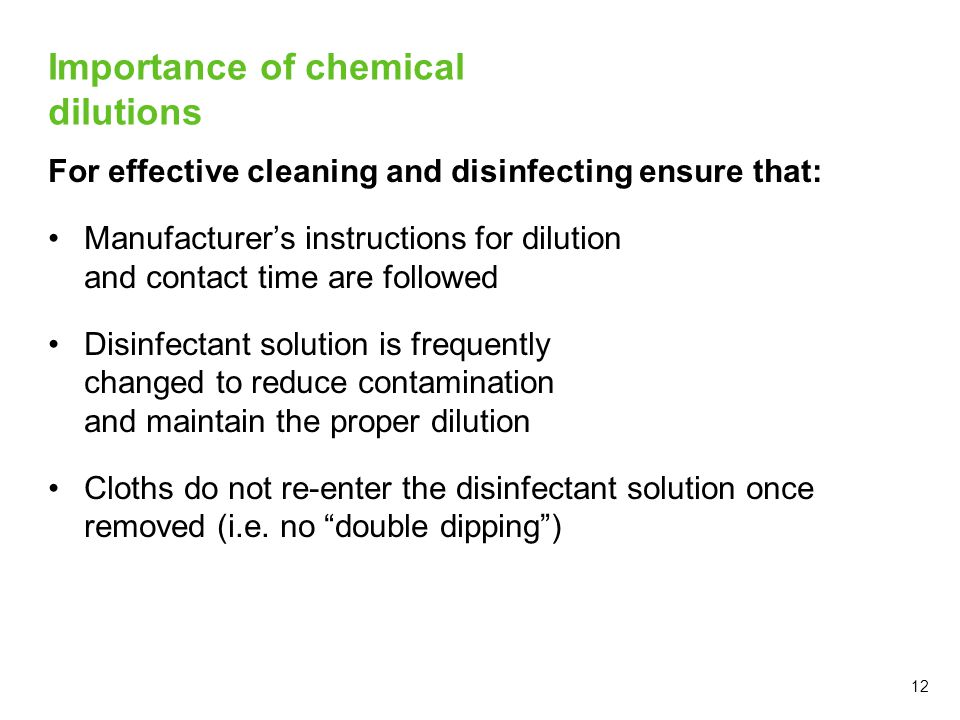 Importance of chemical dilutions