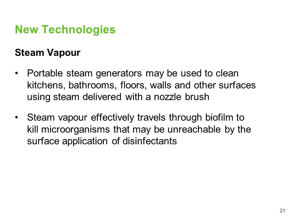 New Technologies Steam Vapour