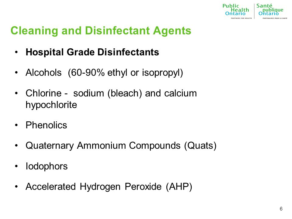 Cleaning and Disinfectant Agents