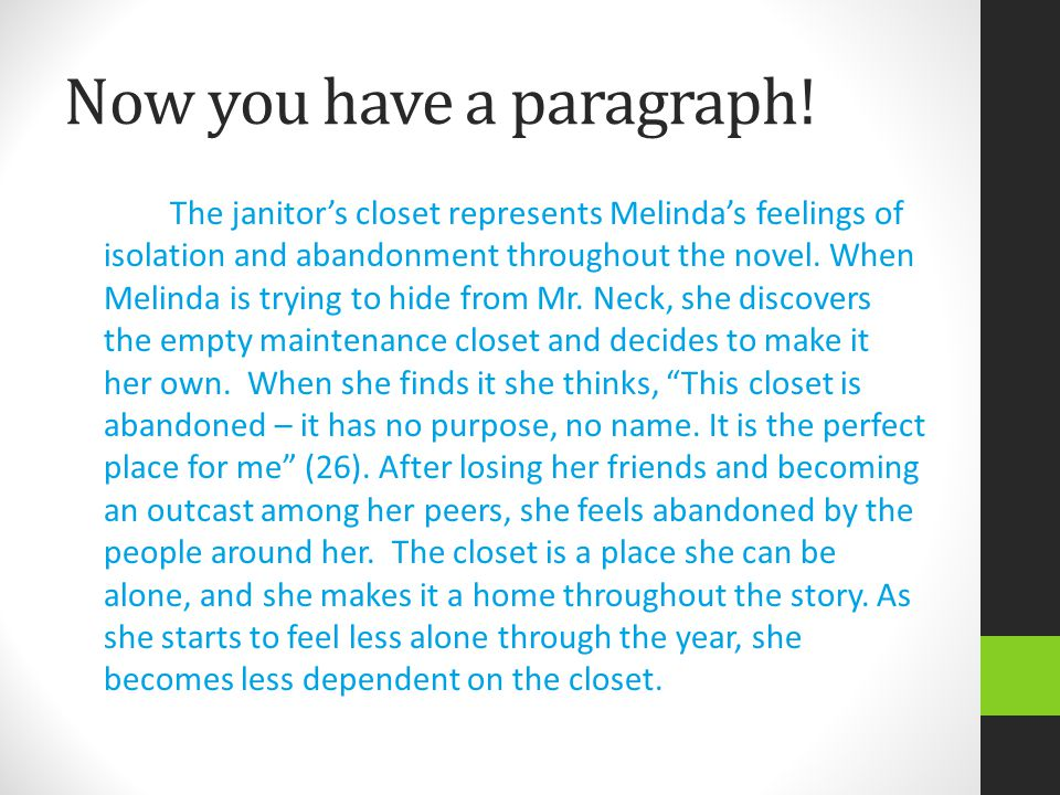 Now you have a paragraph!