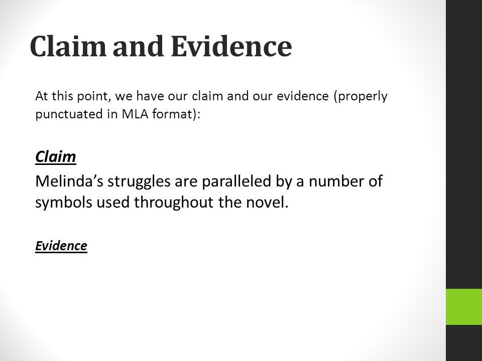 Claim and Evidence Claim