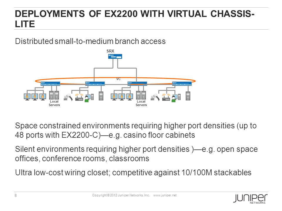 Deployments of EX2200 with Virtual Chassis- lite