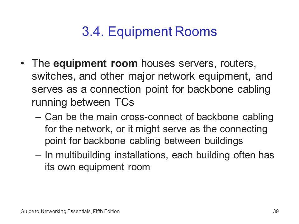 3.4. Equipment Rooms