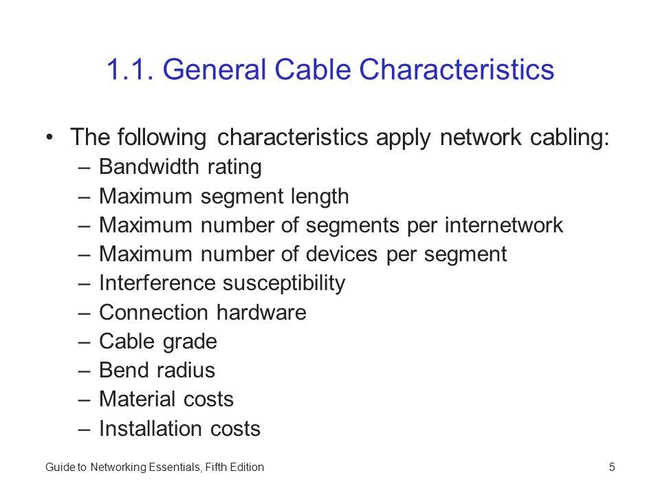 1.1. General Cable Characteristics