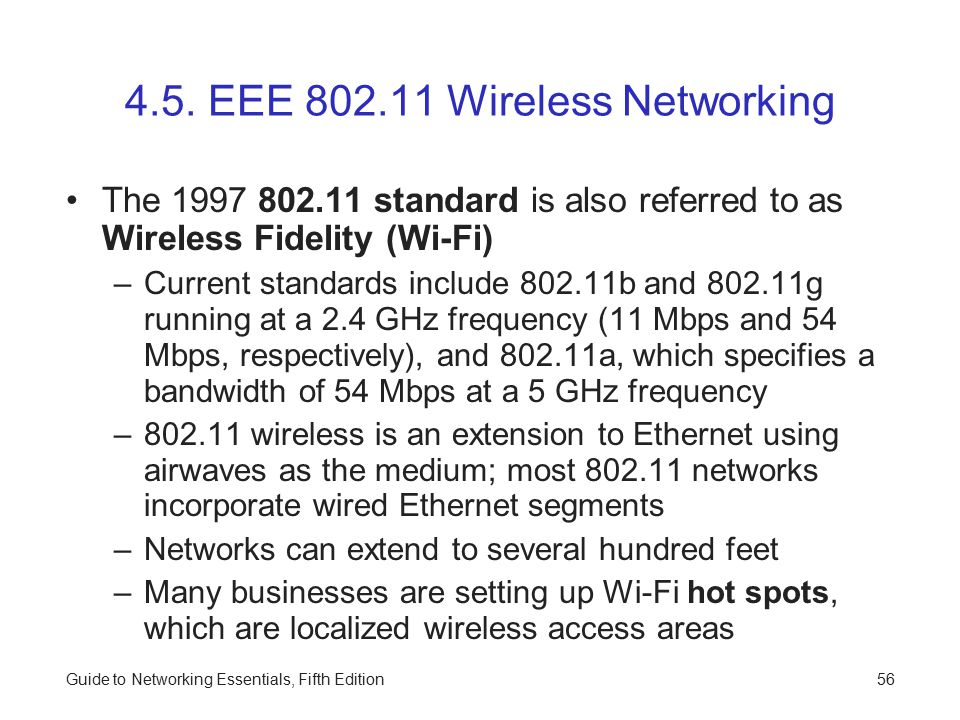 4.5. EEE 802.11 Wireless Networking