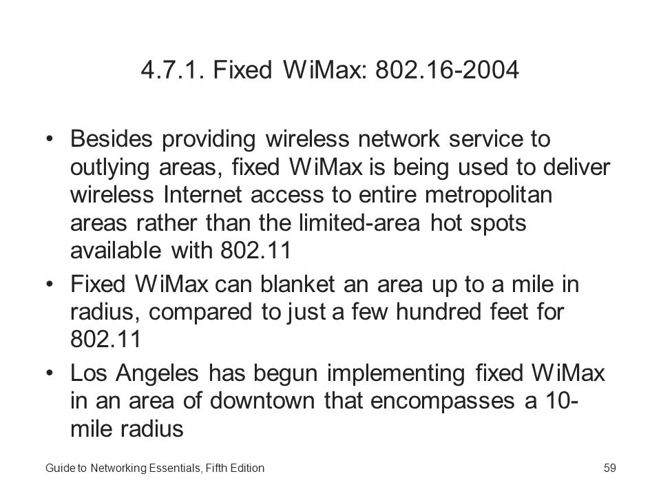 4.7.1. Fixed WiMax: 802.16-2004