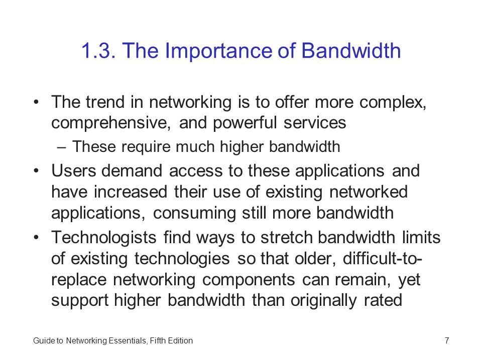 1.3. The Importance of Bandwidth