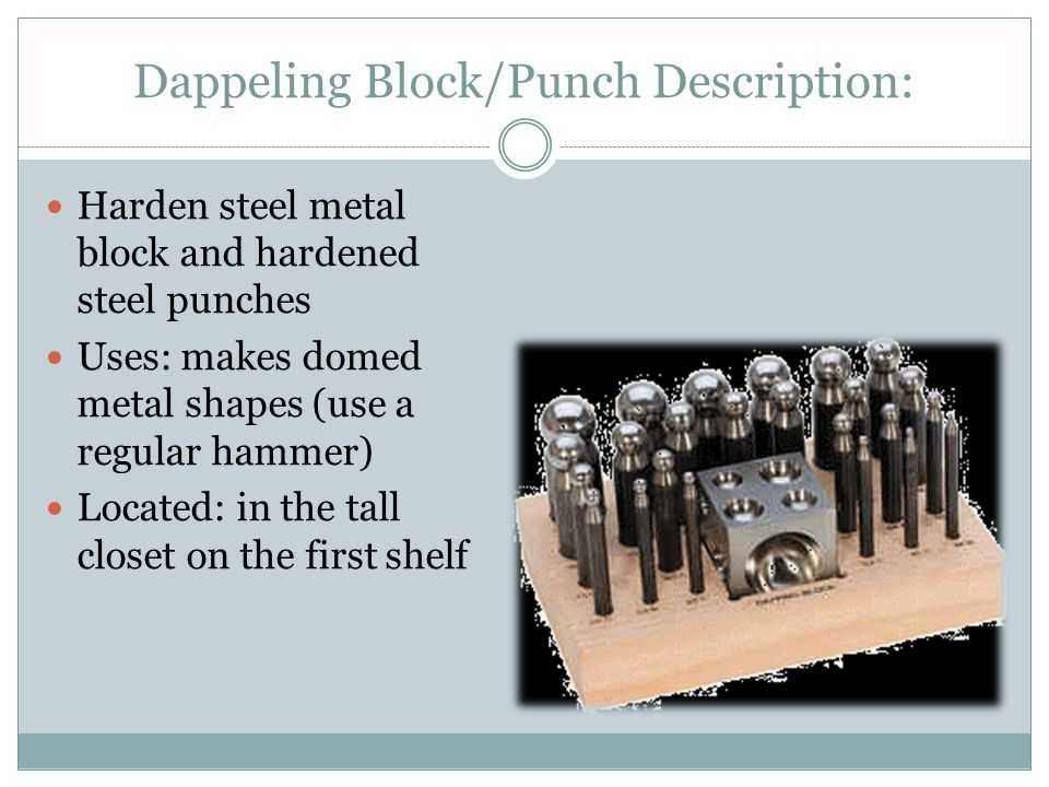Dappeling Block/Punch Description:
