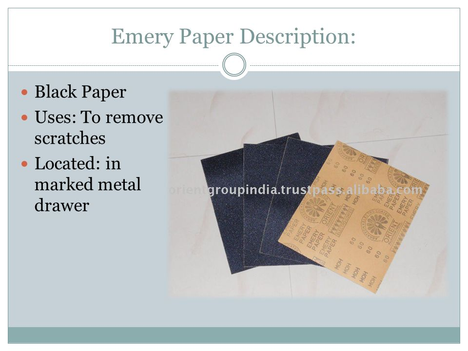Emery Paper Description: