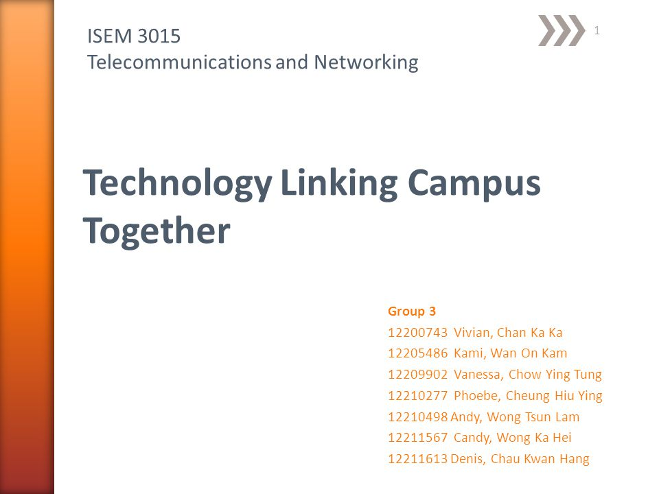 Technology Linking Campus Together