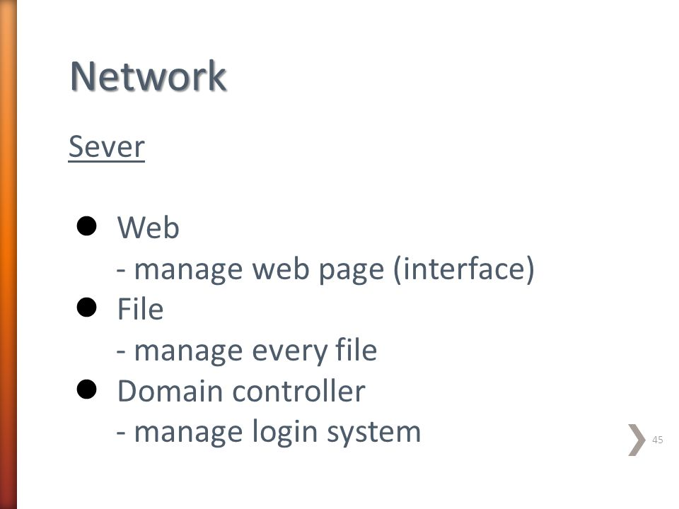 Network Sever Web - manage web page (interface) File