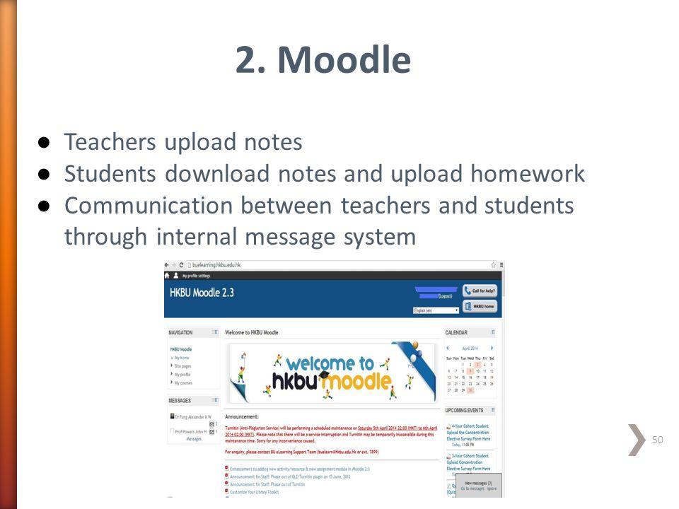 2. Moodle Teachers upload notes