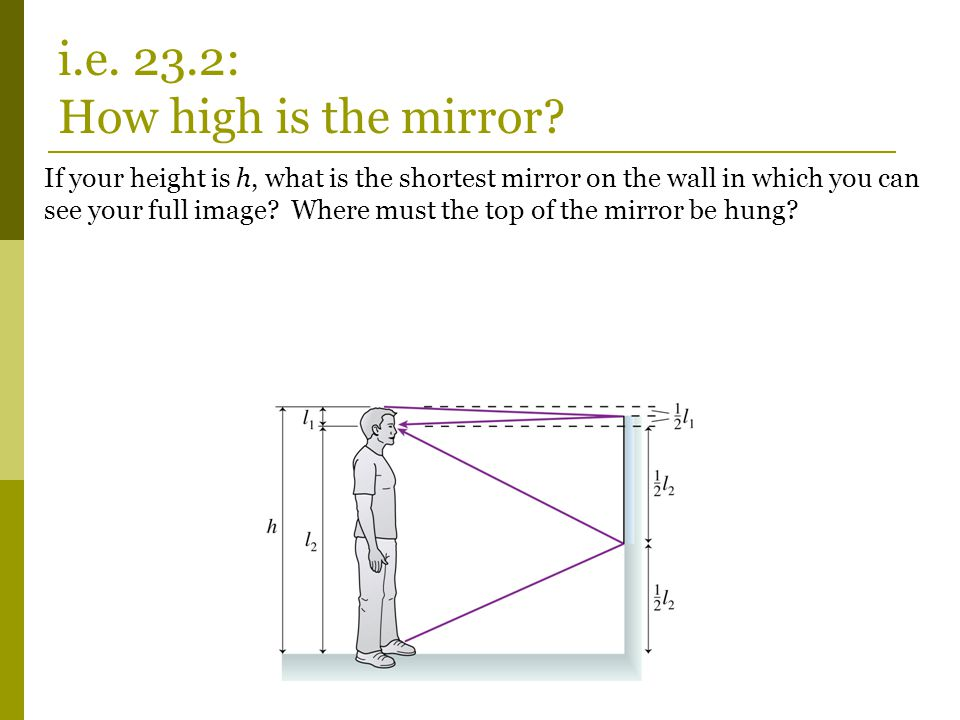 i.e. 23.2: How high is the mirror