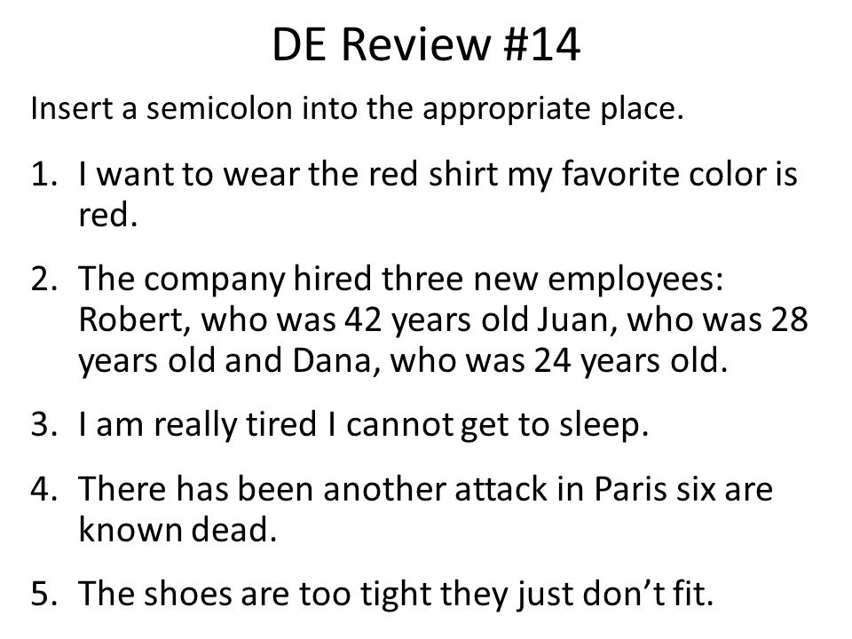 DE Review #14 I want to wear the red shirt my favorite color is red.