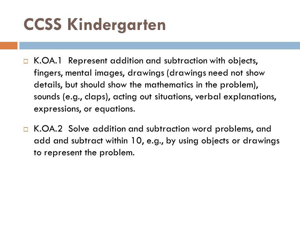 CCSS Kindergarten