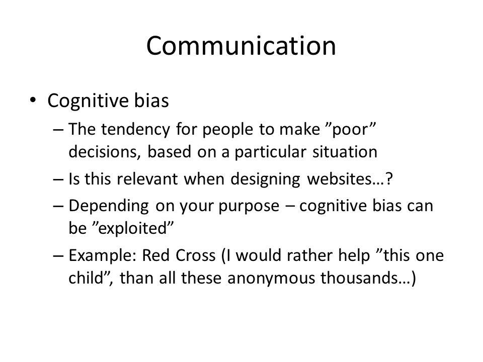 Communication Cognitive bias