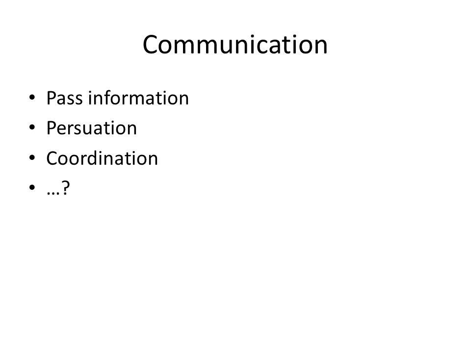 Communication Pass information Persuation Coordination …