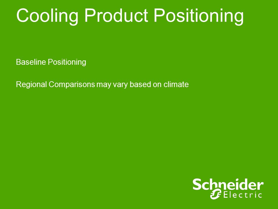 Cooling Product Positioning