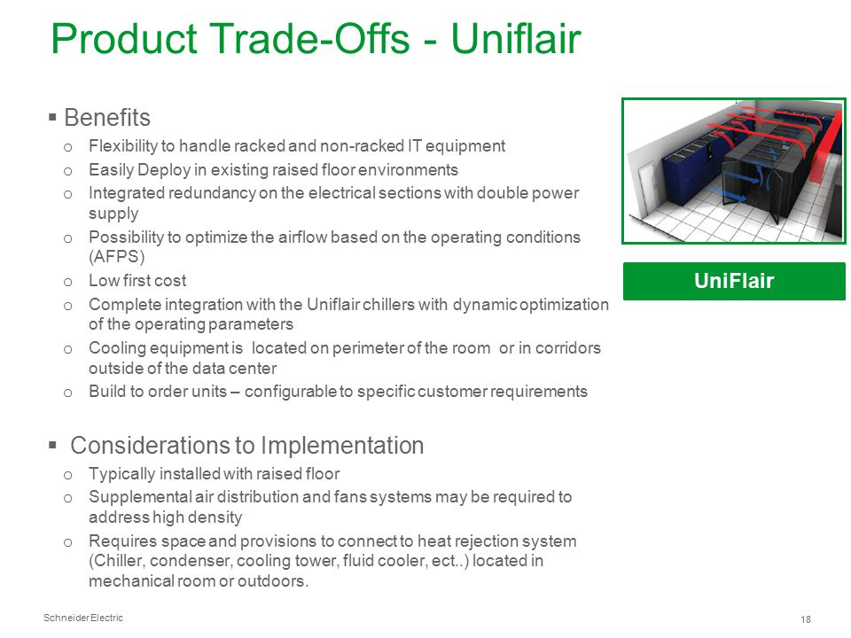 Product Trade-Offs - Uniflair