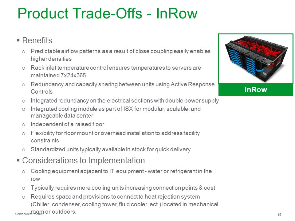 Product Trade-Offs - InRow