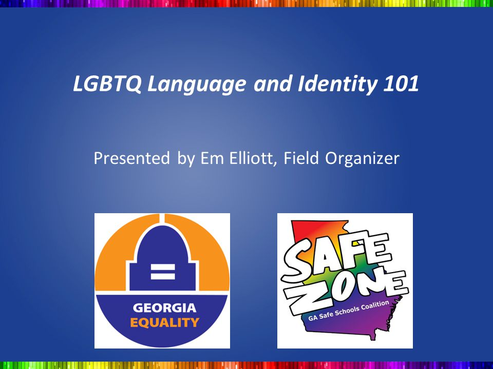 LGBTQ Language and Identity 101